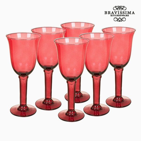 Copas de Vidrio Reciclado (6 pcs) 500 ml Burdeos - Colección Crystal Colours Kitchen by Bravissima Kitchen