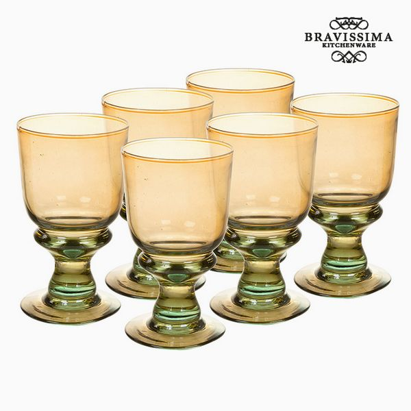 Copas de Vidrio Reciclado (6 pcs) (25 cl) - Colección Queen Kitchen by Bravissima Kitchen