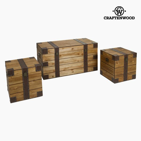 Juego de Baúles (3 pcs) Mdf by Craftenwood