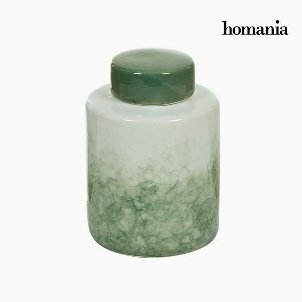 Vaso Gres Verde (14 x 14 x 19 cm) by Homania