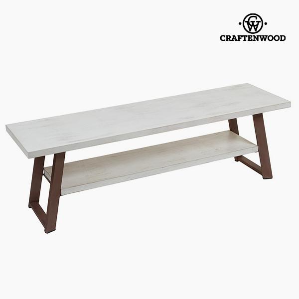 Tavolo per Televisione Legno di pino Bianco Marrone (140 x 40 x 45 cm) by Craftenwood