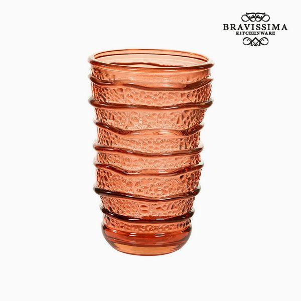 Vaso de Vidrio Reciclado Coral (8 x 8 x 13 cm) by Bravissima Kitchen