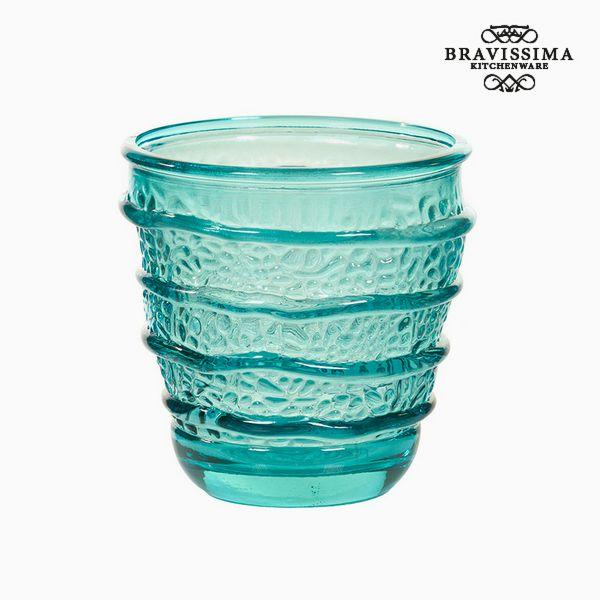 Vaso de Vidrio Reciclado Turquesa (9 x 9 x 9 cm) by Bravissima Kitchen