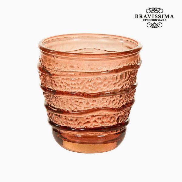 Vaso de Vidrio Reciclado Coral (9 x 9 x 9 cm) by Bravissima Kitchen