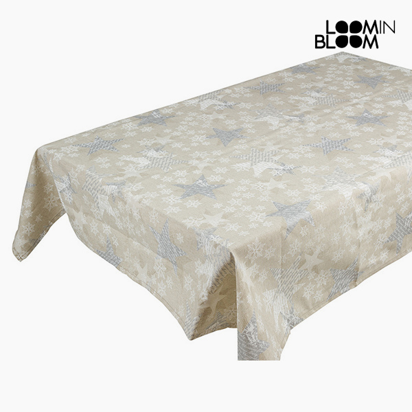 Tovaglia Natale Argento (135 x 250 x 0,05 cm) by Loom In Bloom