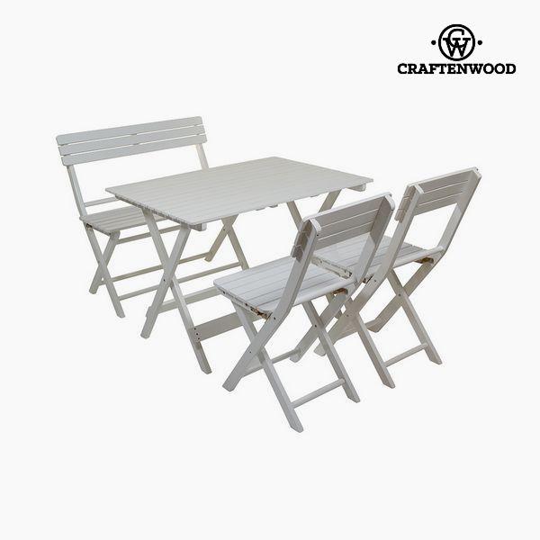 Set di Tavolo, Panca e 2 Sedie Legno di pioppo (4 pcs) by Craftenwood
