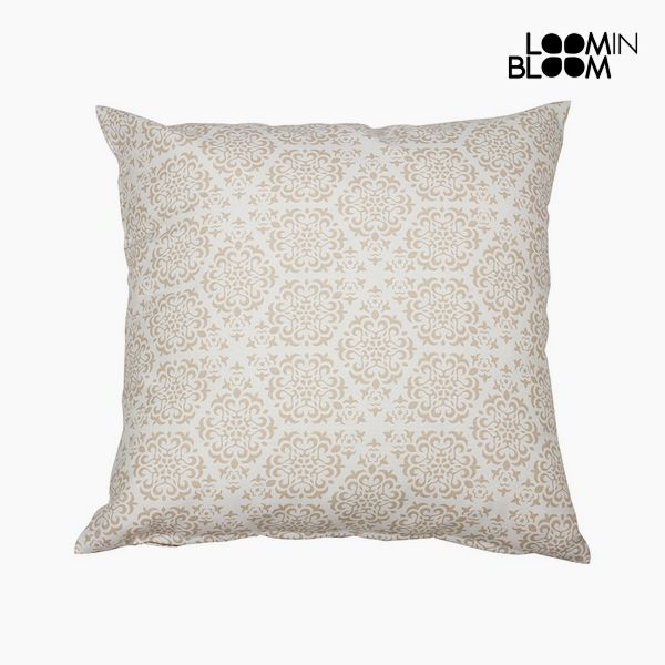 Cuscino Cotone e poliestere Beige (45 x 45 x 10 cm) by Loom In Bloom