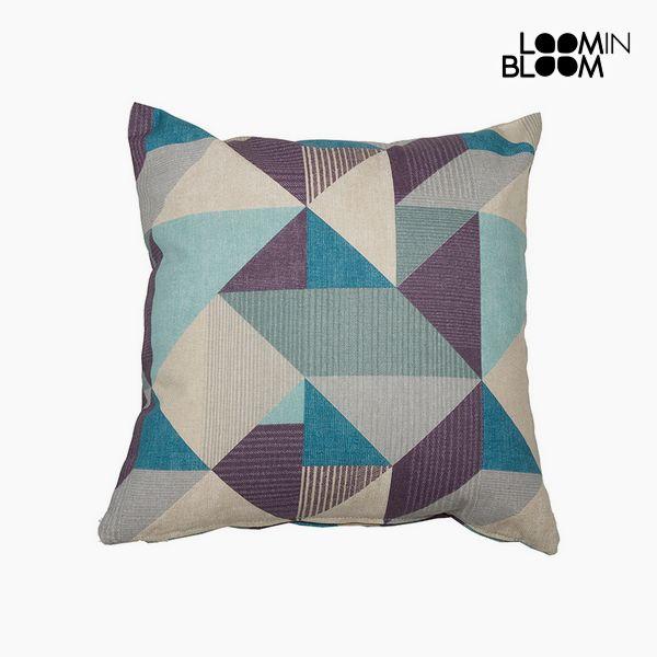 Cuscino Cotone e poliestere Azzurro (60 x 60 x 10 cm) by Loom In Bloom