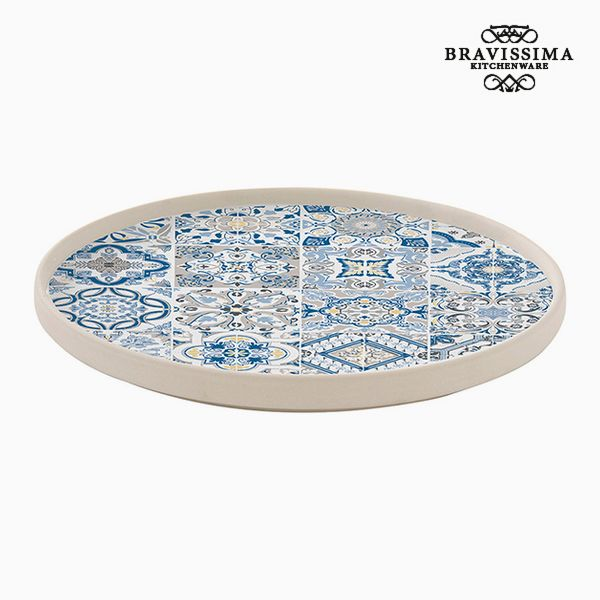S0107495 Bravissima Kitchen Piatto Piano Porțelan Azzurro by Bravissima Kitchen
