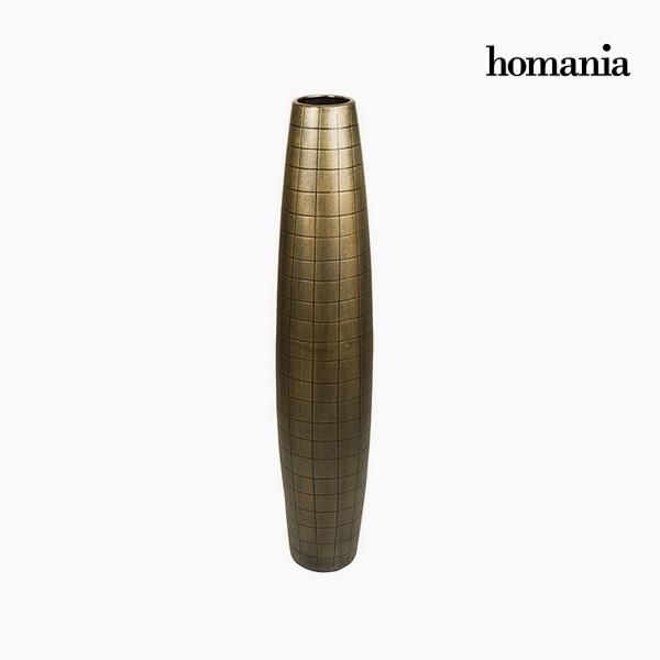 Vaso da pavimento Ceramică Oro (19 x 19 x 100 cm) by Homania