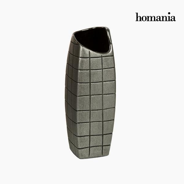 Vaso Ceramică Argento (11 x 11 x 33 cm) by Homania