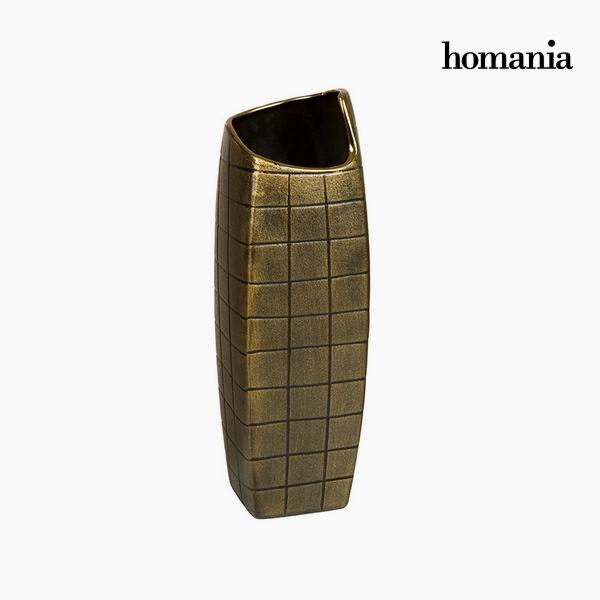 Vaso Ceramică Oro (13 x 13 x 41 cm) by Homania