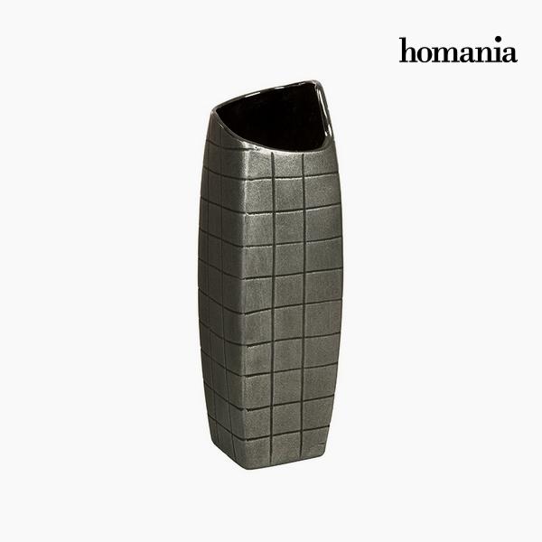 Vaso Ceramică Argento (13 x 13 x 41 cm) by Homania
