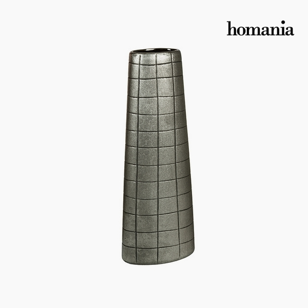 Vaso Ceramic? Argento (17 x 9 x 44 cm) by Homania