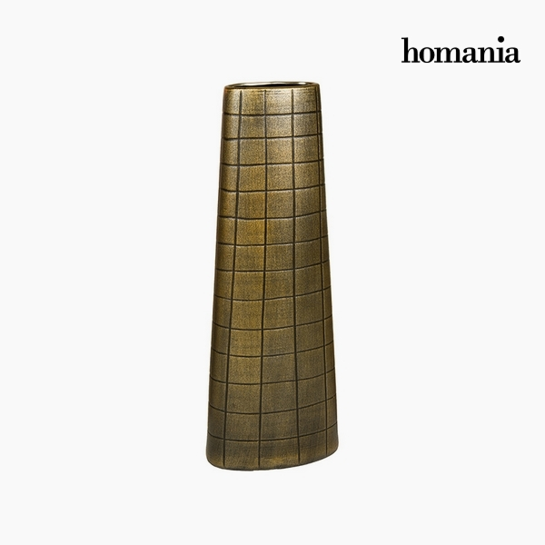Vaso Ceramic? Oro (19 x 10 x 51 cm) by Homania
