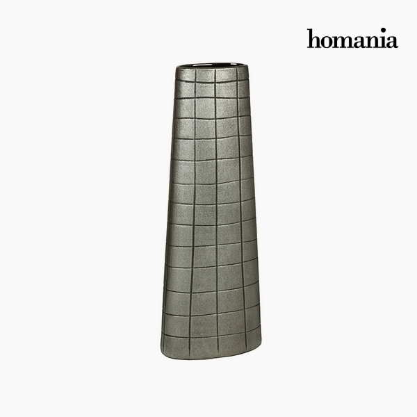 Vaso Ceramic? Argento (19 x 10 x 51 cm) by Homania