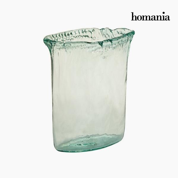 Vaso Vetro riciclato Trasparente (26 x 11 x 34 cm) by Homania