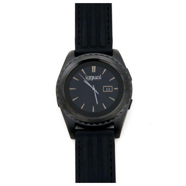 Smartwatch iggual IGG313824 1.2 HD IPS Bluetooth 4.0 Nero