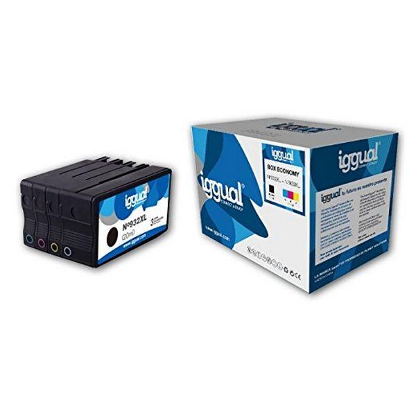 Cartucho de Tinta Original (pack de 4) iggual HP 932XL/933XL Box-Economy Cyan Magena Negro Amarillo