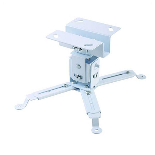 Supporto da Soffitto Inclinabile e Girevole per Proiettore iggual STP01 IGG314708 -22,5 - 22,5° -15 - 15° Ferro Bianco