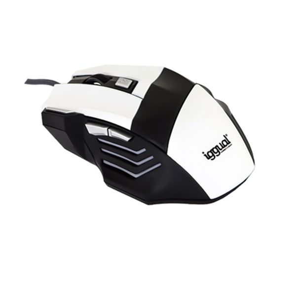 Mouse Ottico Mouse Ottico iggual IGG315026 STORM 2400 dpi 7 D USB Bianco