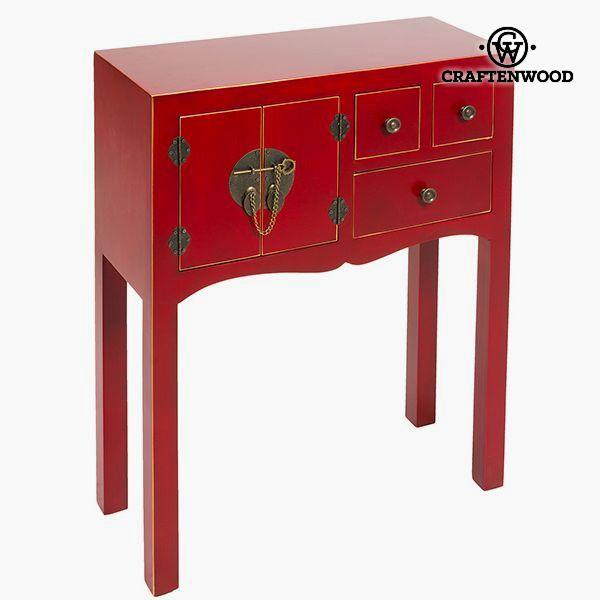 Recibidor Mdf Rojo (63 x 26 x 82 cm) - Colección Modern by Craftenwood