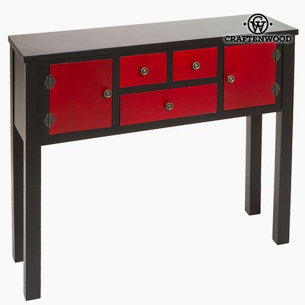 Recibidor Mdf Rojo (95 x 26 x 80 cm) - Colección Modern by Craftenwood