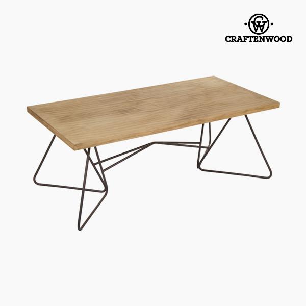 Mesa de Centro 120 x 45 x 60 cm) Forja Abeto Negro - Colección Perfect by Craftenwood