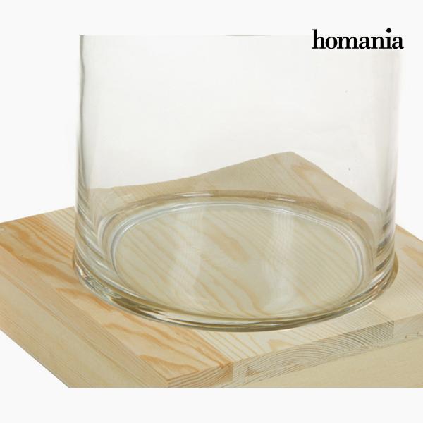 Jarrón Vidrio Madera - Colección Pure Crystal Deco by Homania (1)