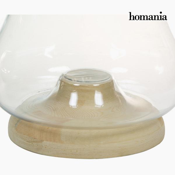 Portavelas Vidrio Madera - Colección Pure Crystal Deco by Homania (1)