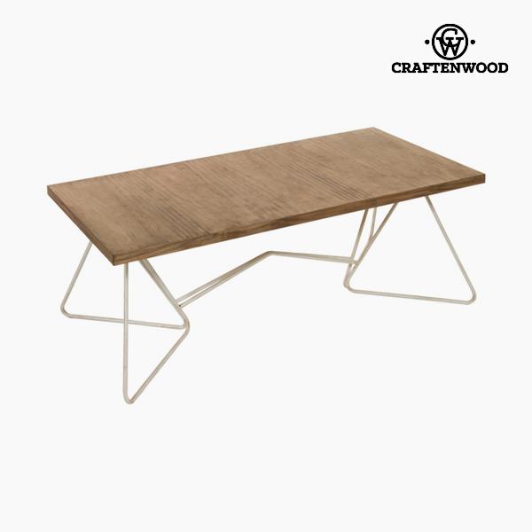 Mesa de Centro Forja Abeto Blanco (120 x 60 x 45 cm) - Colección Thunder by Craftenwood
