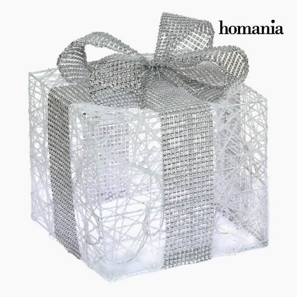 Caja con Luces Hierro Algodón Blanco Plata by Homania