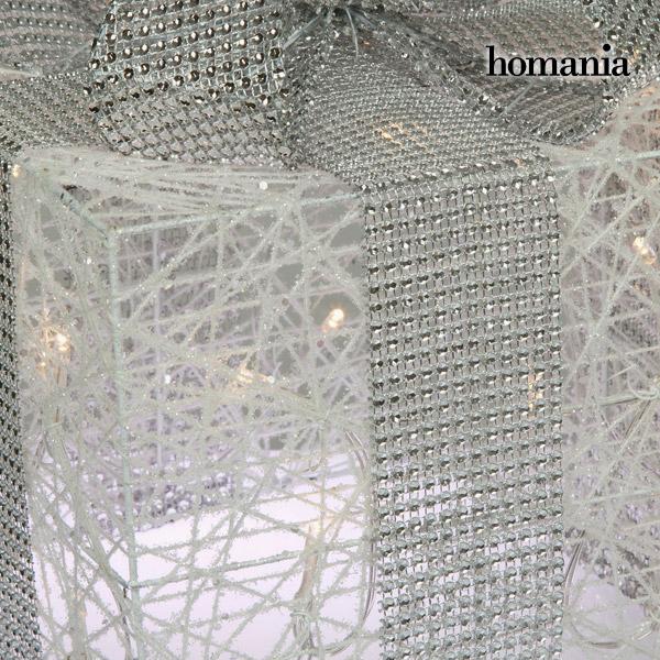 Caja con Luces Hierro Algodón Blanco Plata by Homania (2)