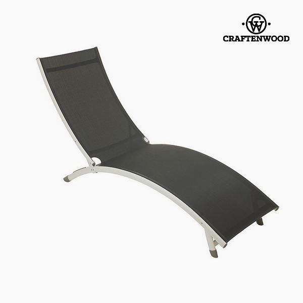 Tumbona (180 x 55 x 25 cm) Aluminio Gris by Craftenwood