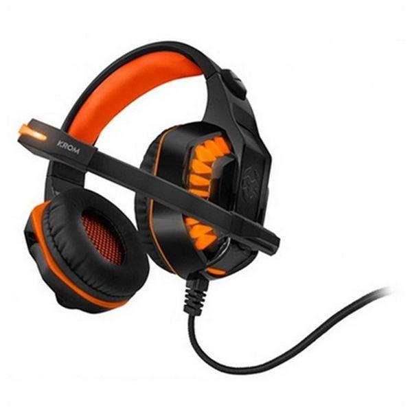 Auricolari con Microfono Gaming KROM NXKROMKNR Konor Ultimate | Arancione/Nero