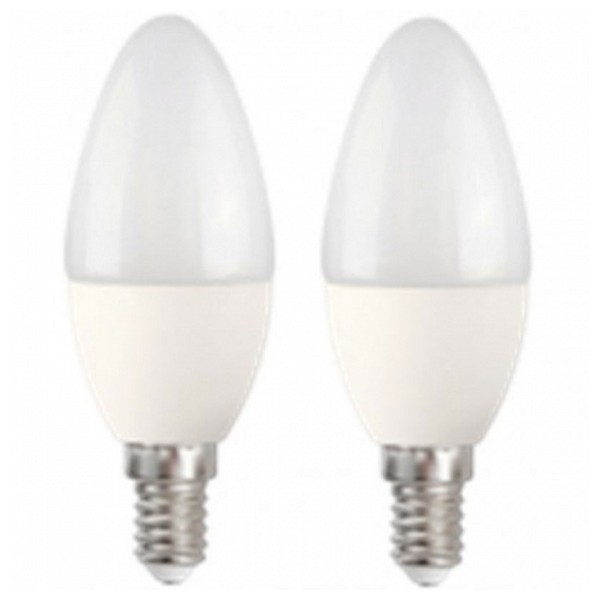Bombilla LED Vela MegaLed CF-50WP2 5W E14 2700K 390 lm (2 pcs) Blanco