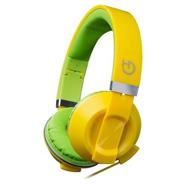 Slušalke z mikrofonom Hiditec COOL KIDS WHP010006 Rumena