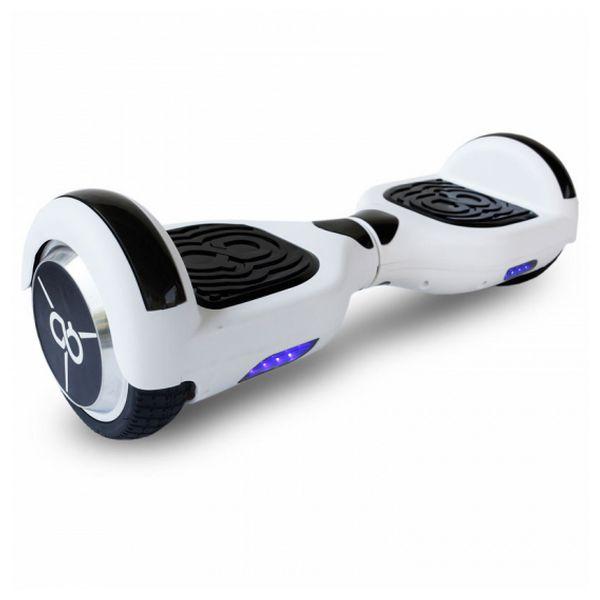 Monopattino Elettrico Hoverboard Skate Flash K6+ 6,5 Bluetooth 500W Bianco