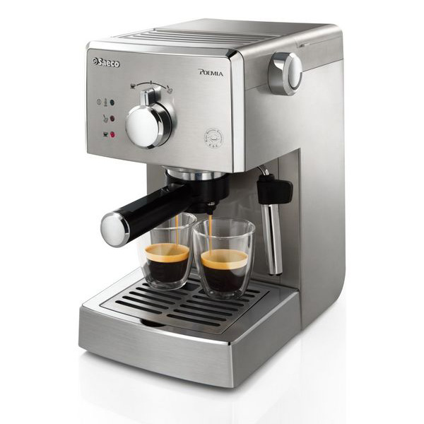 Saeco Poemia HD8427/11 Espresso machine 1L 2cups Stainless steel coffee maker
