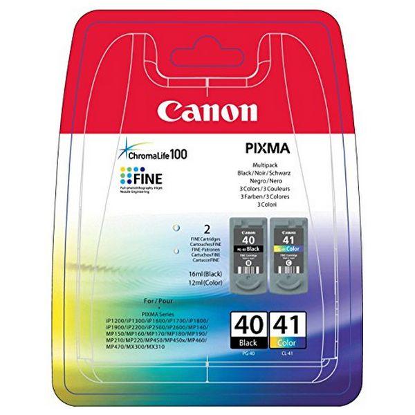 Kartuša Izvirna (paket 2 kosov) Canon PG-40/CL41 Trikolor Črna