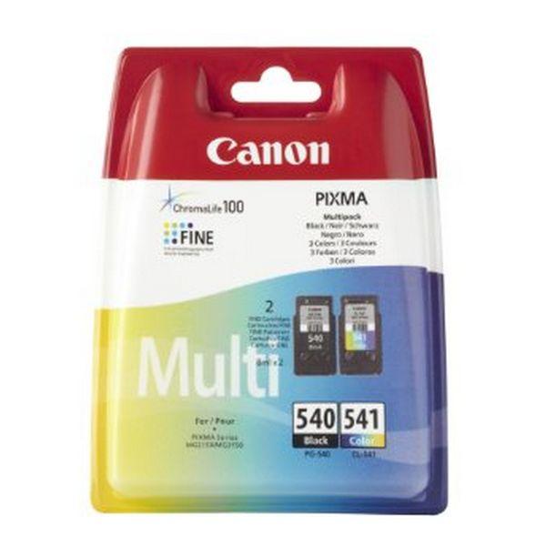 Kartuša Izvirna (paket 2 kosov) Canon PG-540/CL541 Trikolor Črna
