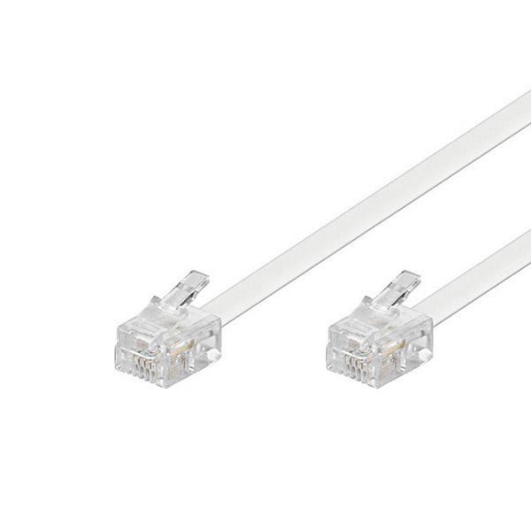 Cavo Connessione Telefonica EDC RJ-11 2 m Bianco