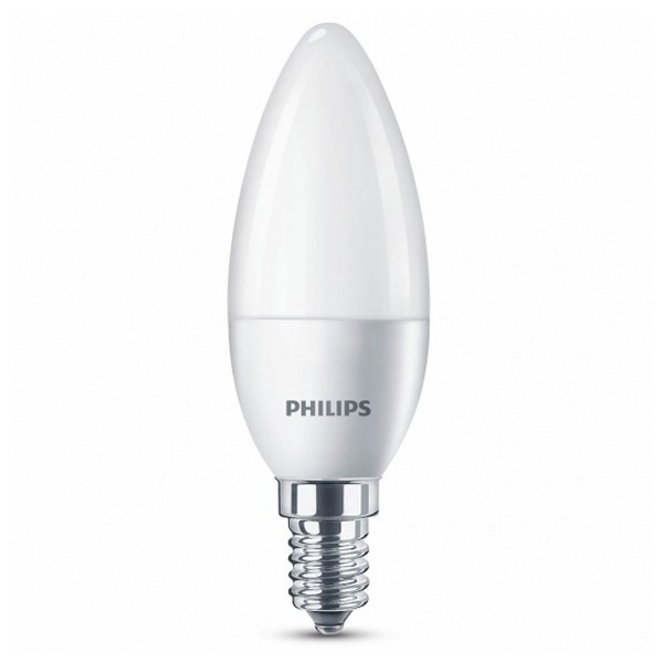 Bombilla LED Vela Philips 5,5W A+ 240 V Blanco
