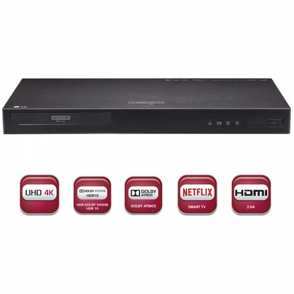 Reproductor de Blu-Ray LG 221509 4K UHD WIFI Negro