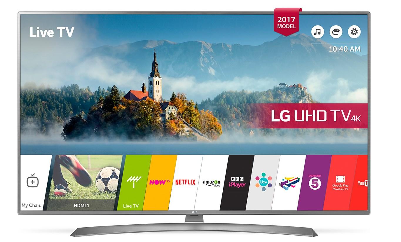 "Smart TV LG 49UJ670V 49"" Ultra HD 4K LED HDR Wifi Plata"