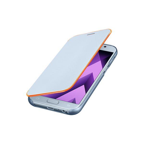 Custodia per Telefono Cellulare Samsung EF-FA520PLEGWW Samsung A5 2017 Neon Flip Cover Azzurro