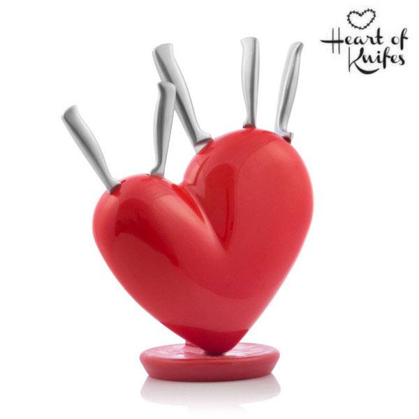 Set Cuore di Coltelli con Ceppo Heart of Knifes