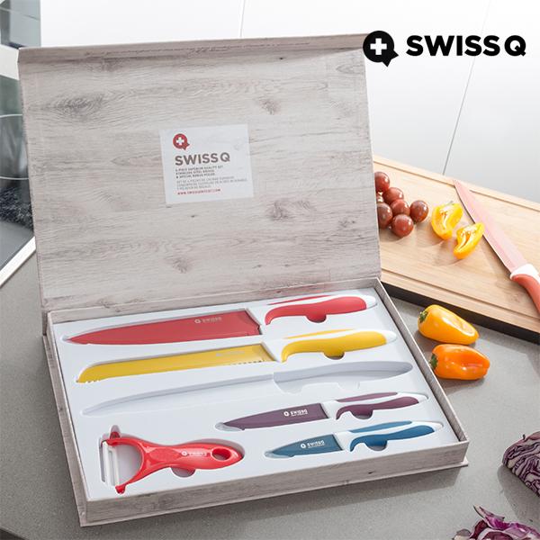 Cuchillos con Revestimiento Cerámico Swiss Q (6 piezas)