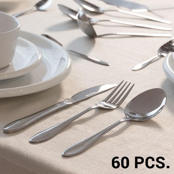 Cubertería de Acero Inoxidable Bravissima Kitchen (60 piezas)