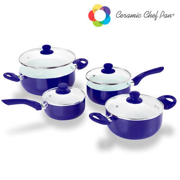 Batería de Cocina Ceramic Chef Pan (8 piezas) (1)